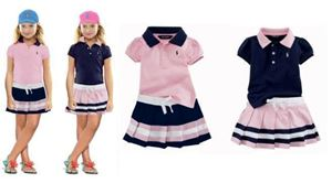@  POLO GIRL SET - PINK TOP 2613