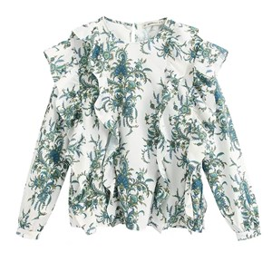 SMALL GREEN FLORAL PRINTED BLOUSE
