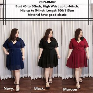 9559 Ready Stock *Bust 40 to 50 inch/ 101-127cm