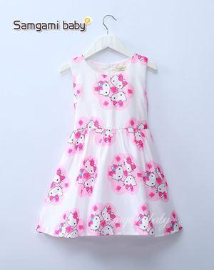 @  SAMGAMI DRESS 005    -. KITTY WHITE. ( SZ 100-140 )