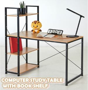 COMPUTER STUDY TABLE WITH BOOK SHELF