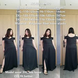 NC428 Ready Stock  *Bust 110-145cm