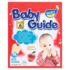 Tenten Baby Guide Apple Flavour Rice Rusks 6 Months Onwards 18pcs 36g