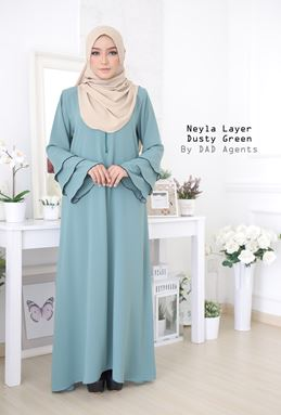 Jubah Neyla Layer Dusty Green