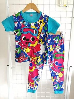 Pyjamas BABY SHARK Blue : Kids Size 1/2 hingga 7/8