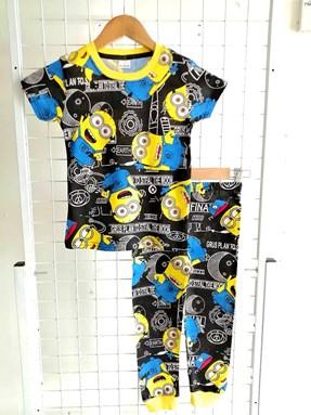 Pyjamas MINION EARTH BLACK : BABY size 6M (HELAL)