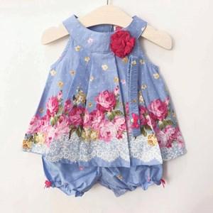 Floral 3pcs Baby Set