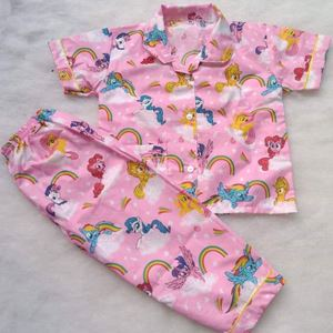 MY LITTLE PONY RAINBOW PYJAMAS BUTTON