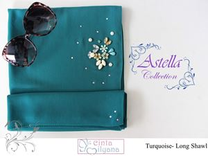 Astella Handcrafted Shawl (TURQOISE GREEN)