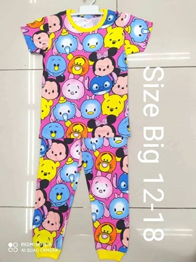 Pyjamas TSUM TSUM FRIENDS PINK :  BIG Size 12 -14