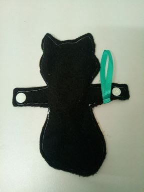 Panty liner bentuk kucing (fox biru)
