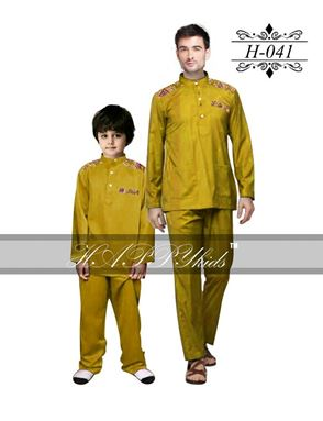 HAPPYkids 2017 Songket Exclusive MAN ( MUSTARD )  -