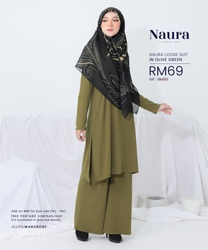 NAURA SUIT IN OLIVE GREEN