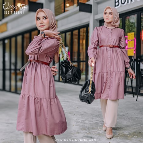QEESYA TOP DUSTY PURPLE