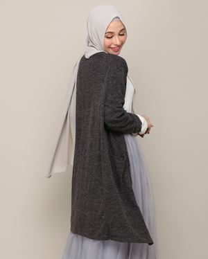 DANIA CARDIGAN IN DARK GREY