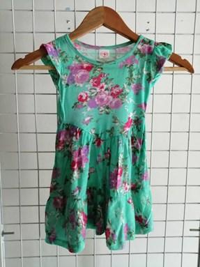 Princess Dress V2 : GREEN ENGLISH ROSE, size 2-4
