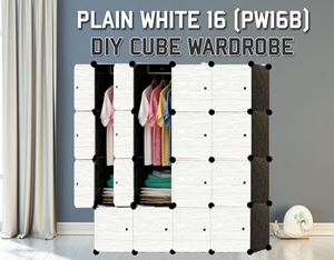 Plain White 16C DIY Wardrobe (PW16B)
