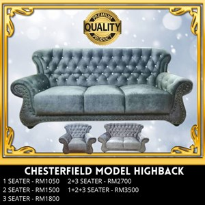 (PQ) SOFA CHESTERFIELD MODEL HIGH BACK