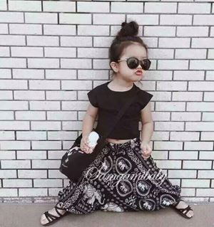Korean 2pcs Girl Set : Top + Baggy Pants