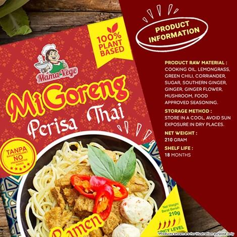 VEGETARIAN RAMEN MI GORENG THAI 素食泰式干捞拉面