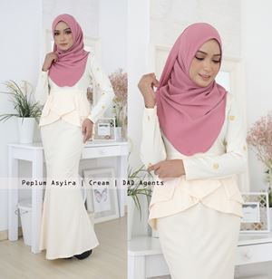 Peplum Asyira Pleated Cream