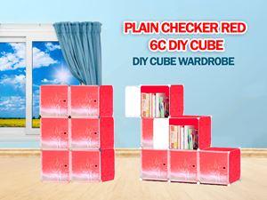 Plain Red 6C DIY WARDROBE (PR6)