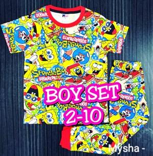 Pyjamas SPONGEBOB YELLOW : Kids 2- 10