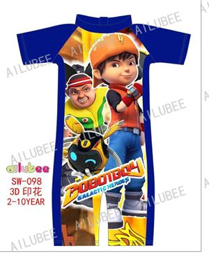 SW098 AILUBEE BOIBOIBOY BLUE  SWIMMING SUIT ( SZ 2-10Y )