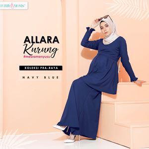 Alarra Kurung - Navy Blue (Pre Order)