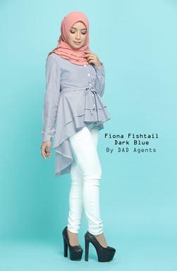 Fiona Fishtail Dark Blue