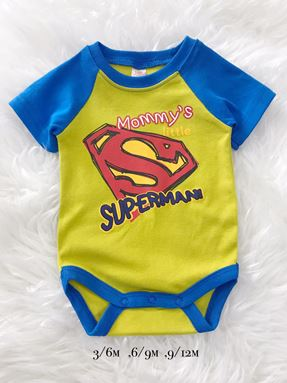 Rompers Baby ( Boy Only Design) SUPERMAN yellow