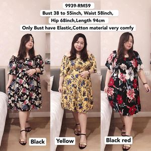 9939 Ready Stock *Bust 38 to 55inch/ 97-139cm