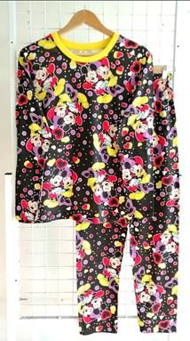 SIZE L DEWASA Pyjamas MICKEY MINNIE LOVE BLACK (HF)
