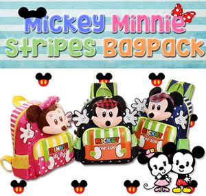 Mickey Minnie Stripes Bagpack