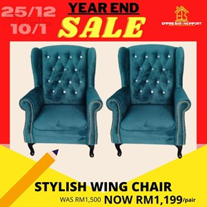 PRE ORDER STYLISH WING CHAIR (2 chairs)