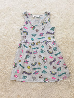 Kids Dress UNICORN YEAH GREY : (size 2 - 14 sesuai utk 1y - 7y) HM