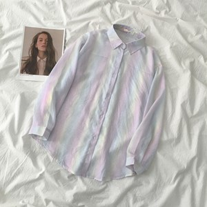 LIGHT UNICORN COLOR BUTTON UP SHIRT