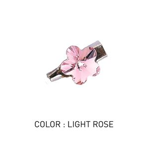 Brooch 3D Flower Luxe Light Rose