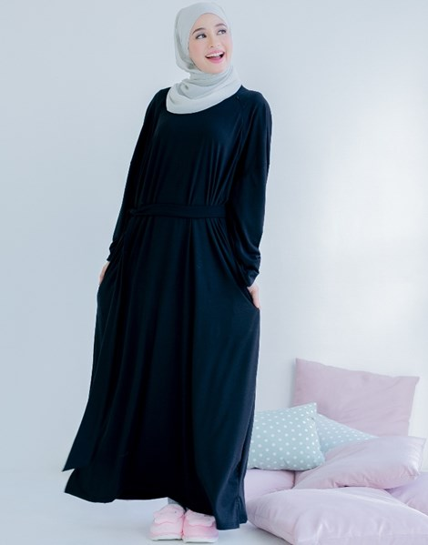 AMBER DRESS IN BLACK