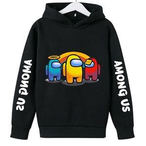 Among US Unisex Sweater   [  BLACK  ]  ( 100-110-120-130-140-150-160cm )