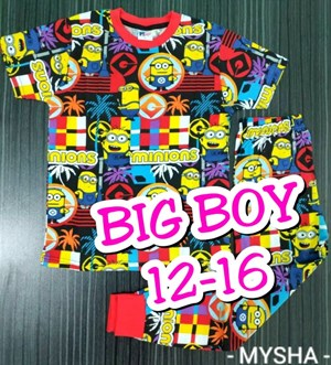 Pyjamas MINION IN ACTION :  Big Size 12-16