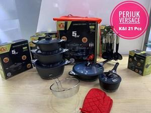 K&I Germany 21 Pcs Cookware Set (Versace)