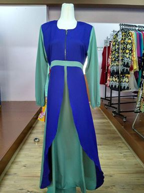 Jubah Natasya Royal Blue