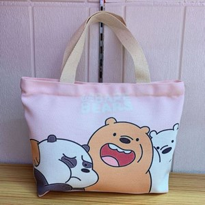 Cartoon Canvas Bag - BARE BEARS  ( Size: Height 22cm* Width 30cm* )