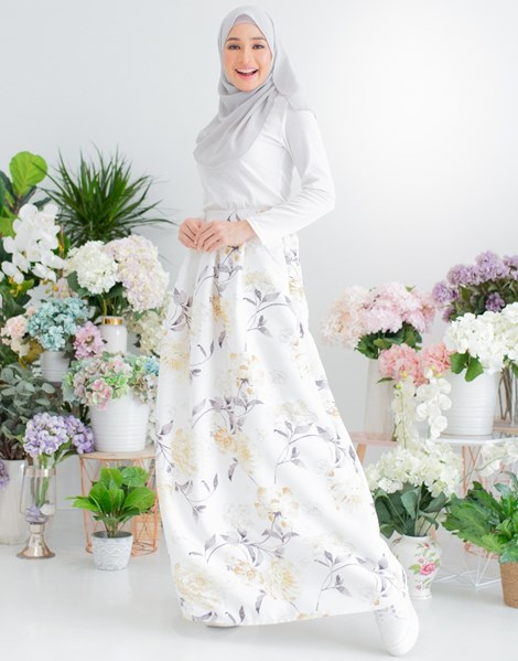 ALICE FLORAL SKIRT IN HONEY