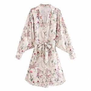 BIG FLORAL PRINTS TUNIC DRESS