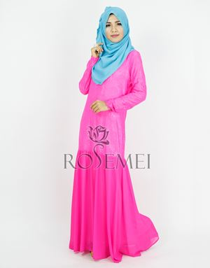 KATRINA DRESS - SHOCKING PINK
