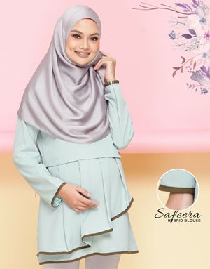 Safeera Blouse - Mint Green (Olive)