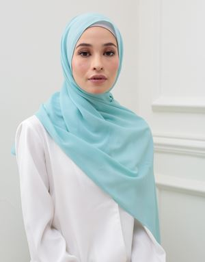 BASIC SCARF IN MINT BLUE