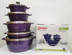 DESSINI 10PCS DIE CAST GLASS -  DEEP PURPLE